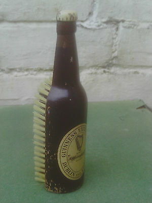 Vintage Guinness Wooden Clothes Brush in the form of a Bottle -Advertising