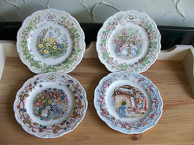 "Royal Doulton Brambly Hedge Set Of Four Seasons 8"" Plates"