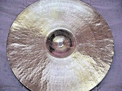 """VINTAGE Old 1950s 15"""" PAISTE STANOPLE Paper THIN CRASH Cymbal Ex Cnd 700g WWSHIP"""