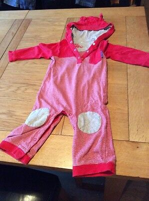 boys red and grey babygrow 12 to 18 months