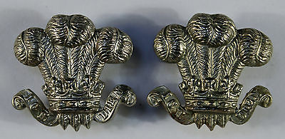 5th (Prince of Wales's) Bttn (TF) Devonshire Regt Officer's Collar Badge - Pair