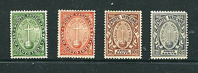 Vatican City, Scott B1-4 B1-B4 Mint Hinged Set, Holy Year Stamps, With Flaws