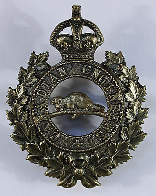 Canadian Engineers WW1 Pickled Brass Cap Badge