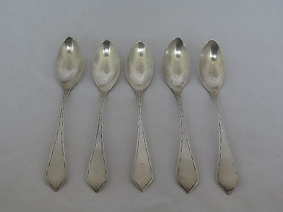 Set of 5 c.1800 Continental Silver Fruit Spoons