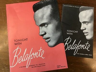 Tonight with Belafonte, Harry Belafonte, Vintage Theatre Programs, 1959