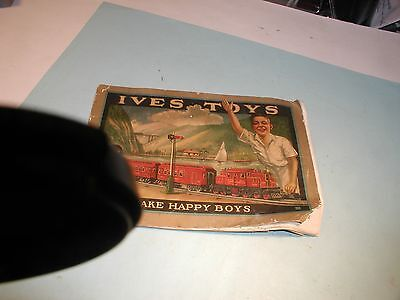 """Early 1900's """" Ives Toys """" Catalog of Toy Trains and Related Items"""