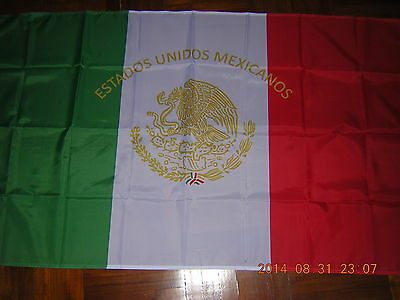 NEW reproduced Mexican Presidential Standard Mexican Flag Mexico Ensign 3X5ft