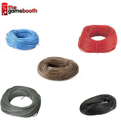 PVC EARTH SLEEVING BROWN BLUE 2 3 4 5 6mm ELECTRICAL SOCKET LIGHTS WIRE CABLE