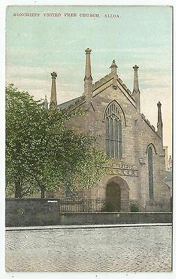 POSTCARD-SCOTLAND-ALLOA-PTD. Moncrieff United Free Church.