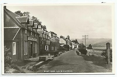 POSTCARD-SCOTLAND-LOCH CARRON-RP. The East End of The Village.
