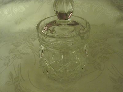 Vintage Glass Jam Pot