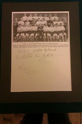 1954 Port Vale Signed Picture In Mount X 7 Players Of The Period - Champions