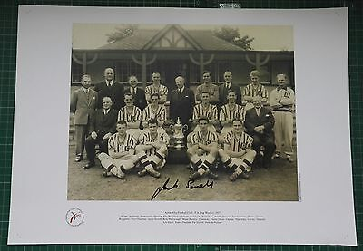 Jack Sewell - Aston Villa  Autographed Limited Edition Print Fa Cup Winners 1957