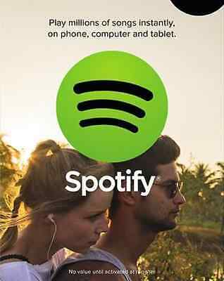 *INSTANT DELIVERY* 3 Month Spotify Premium Subscription Gift Card USA