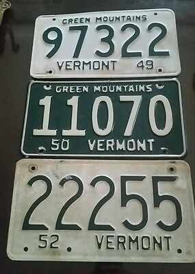 Vintage Lot of Vermont license plates