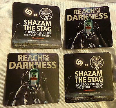 """(4) Jagermeister """"REACH for the DARKNESS"""" Halloween theme Coasters....NEW"""