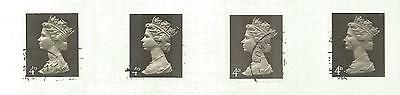 QUEEN ELIZABETH 4d 1 AND 2 PHOSPHOR BANDS WITH SHADES  REF 1365