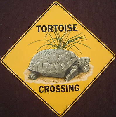 TORTOISE CROSSING SIGN aluminum novelty turtles reptile decor signs animals
