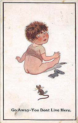 POSTCARD  CHILDREN   Mouse  Related  Boy