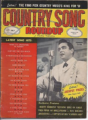 Country song Roundup #61 July 1959 Johnny Cash