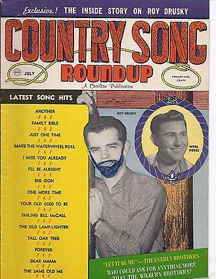 Country song Roundup #67 July 1960