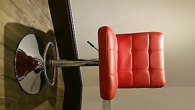 Red faux leather bar stools x4