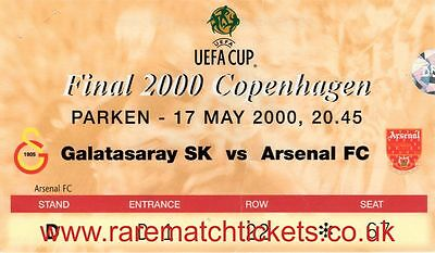 original 2000 uefa cup final GALATASARAY  [ARSENAL] ticket