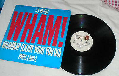 "WHAM UK 12"" Single WHAM RAP (U.S. RE-MIX) Blue & Red Sleeve GEORGE MICHAEL"