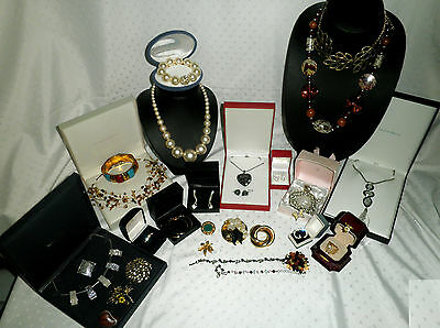 Job Lot Collection Mixed Vintage & Modern Costume Jewellery