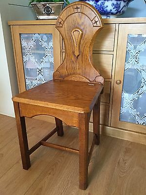 Vintage Oak Chair With Lift Up Seat For Storage