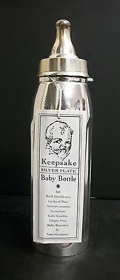 New Vintage Two's Company Silver Plated Baby Bottle Keepsake Box First Tooth
