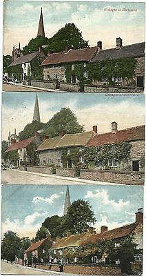 GB 5 ppc 1903-10  Bakewell - Cottages or Alms Houses or Hospital of St John