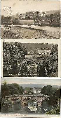 GB 7 ppc 1906 - 15 exterior views of Chatsworth House