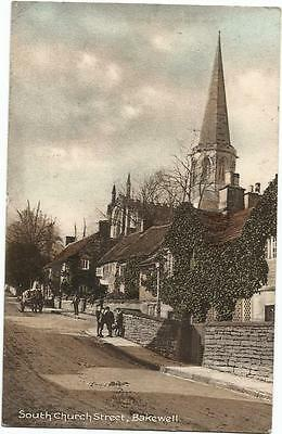 GB ppc 1910 South Church Street, Bakewell - G A May, Bakewell card