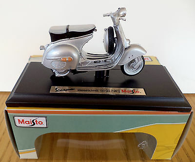 Maisto Vespa Scooter Model, 1:18 Diecast Scooter Model, 150 GS Messerschmitt
