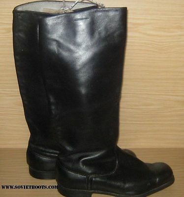 Soviet Russian Officer Riding Boots Parade Leather 39-44