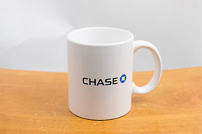 Collectible Chase Bank White With Blue Logo - Coffee Mug Cup