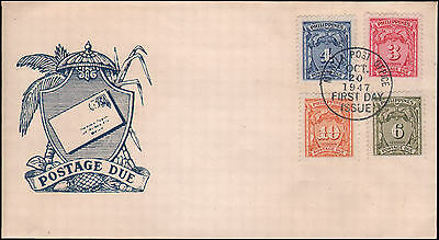 Philippines #J23-J26 postage due FDC, 1947