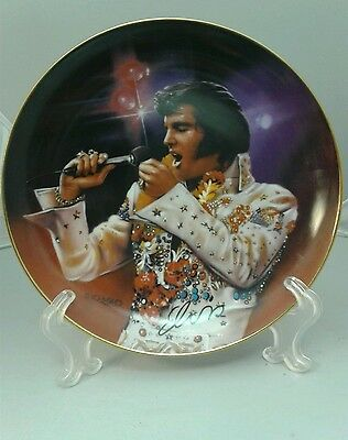 Vtg. 1995 Elvis Presley The King Collector Plate , Nate Giorgio, Jeweled