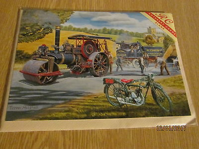 Steam Roller  greetings card.
