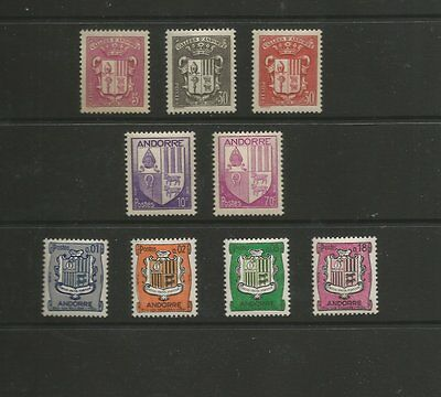 Andorra Various Coats Of Arms U/mint Stamps From 1936, 1944 & 1961