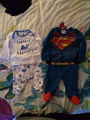 Baby Boys Pjs Size 0/3 3/6 Months