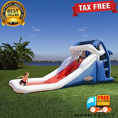 Blast Zone Lawn Water Slides Great White Inflatable Bounce House Water Park Toys