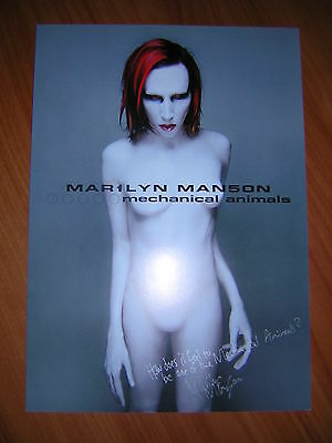 """Marilyn Manson """"mechanical Animals"""" Limited Official Spanish Lithography Signed"""