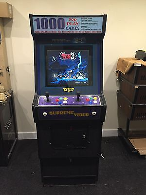 Arcade Video Game Machine Cabinet with 520 in 1 Upright panman space invaders ++