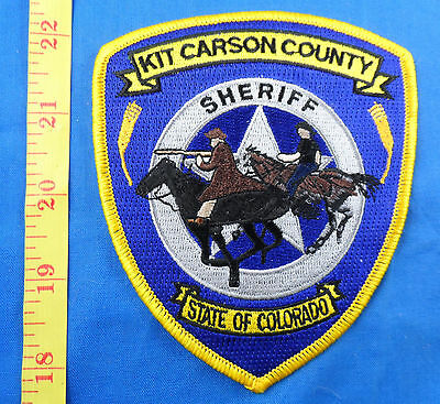 Horse Kit Carson County Colorado Sheriff's Department Embroidered Cloth Patch