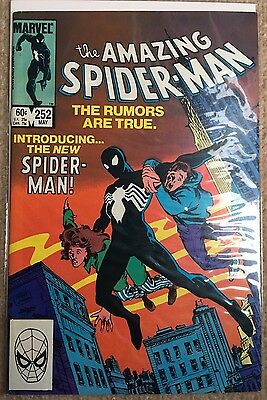 Amazing Spider-Man #252 Marvel First Appearance Black Costume 1st Issue NM