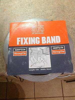 Simpson Strongtie Metal FIXING BAND Strapping FB20 - 20mm x 10m Roll x 2 rolls