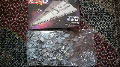 Puzz 3d Imperial star Destroyer New Opened Box Puzzle 3D Wrebbit Milton Bradley