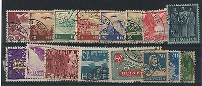 Switzerland 16 used stamps high catalogue value